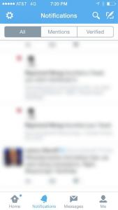 twitter tab mobile app menu design sample