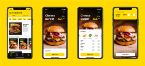 tasty burger mobile app design ideas food