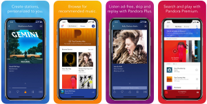 pandora mobile app design ideas  music