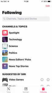 apple news mobile app design ideas