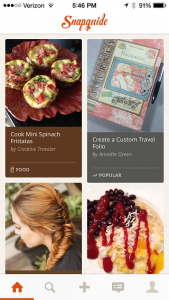 snapguide mobile app design ideas  lifestyle